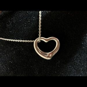 Tiffany & Co. silver heart pendant necklace.